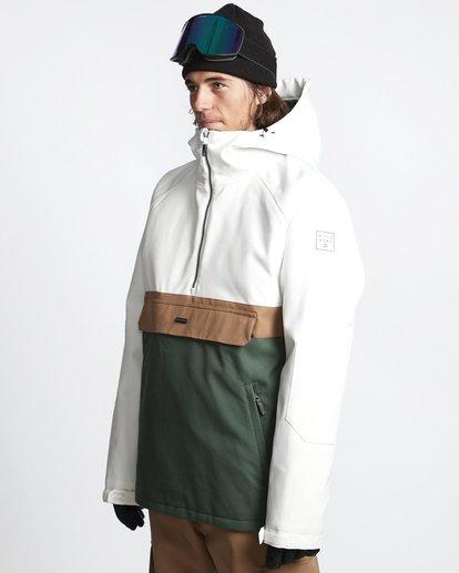 3 Stalefish - Anorak para Nieve para Hombre Verde Q6JM15BIF9 Billabong