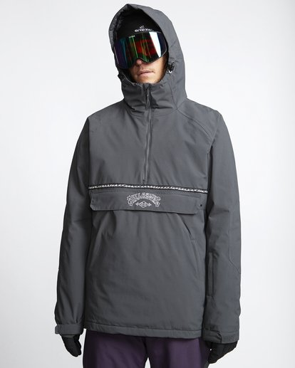 0 Stalefish - Snow Anorak for Men Grey Q6JM15BIF9 Billabong