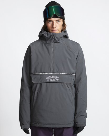 1 Stalefish - Snow Anorak for Men Grey Q6JM15BIF9 Billabong