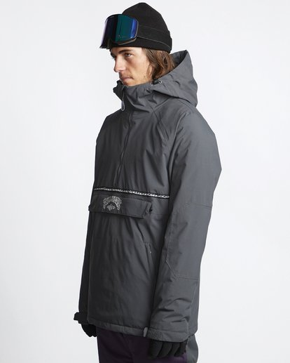 3 Stalefish - Snow Anorak for Men Grey Q6JM15BIF9 Billabong