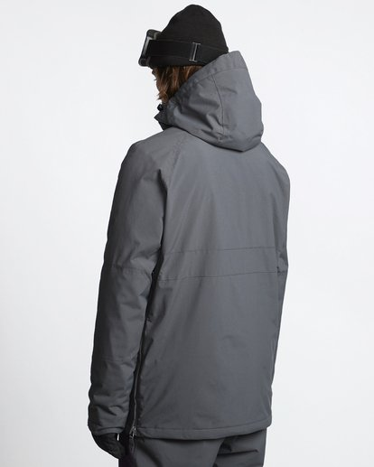4 Stalefish - Snow Anorak for Men Grey Q6JM15BIF9 Billabong