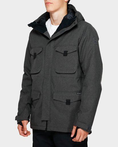 2 Adversary 2L 10K Jacket Grey Q6JM16S Billabong