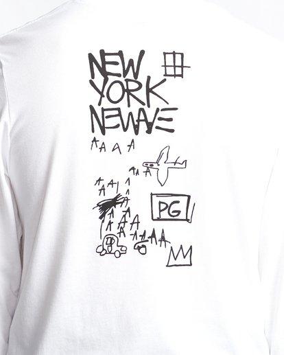 4 Basquiat - Langärmeliges Thermo-T-Shirt für Männer Weiss Q6LS01BIF9 Billabong