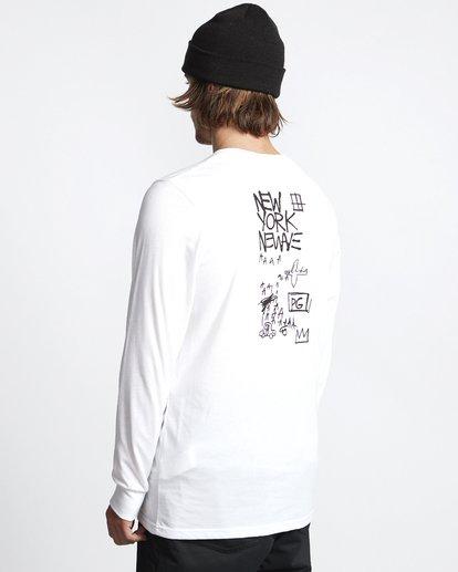 3 Basquiat - Langärmeliges Thermo-T-Shirt für Männer Weiss Q6LS01BIF9 Billabong