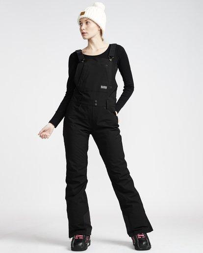 1 Riva - Pantalón para Nieve con Peto para Mujer Negro Q6PF05BIF9 Billabong