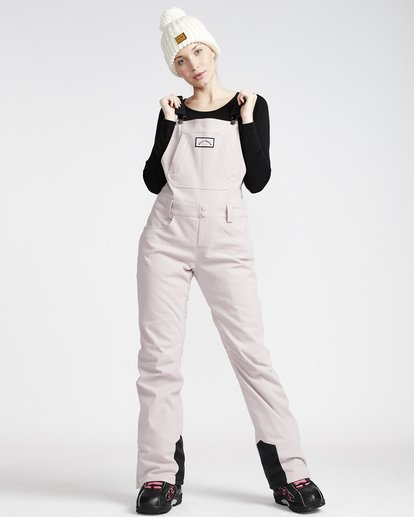 1 Riva - Pantalón para Nieve Cord con Peto para Mujer  Q6PF11BIF9 Billabong