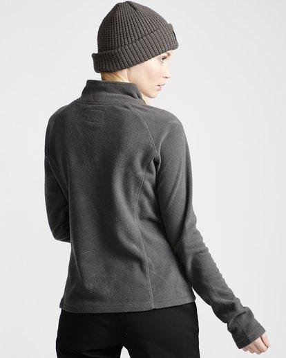 3 Moring Call - Polarfleece-Pullover mit halbem Reißverschluss für Frauen Schwarz Q6SF04BIF9 Billabong
