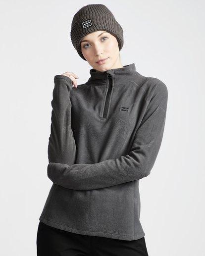 0 Moring Call - Polarfleece-Pullover mit halbem Reißverschluss für Frauen Schwarz Q6SF04BIF9 Billabong
