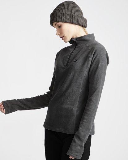 1 Moring Call - Polarfleece-Pullover mit halbem Reißverschluss für Frauen Schwarz Q6SF04BIF9 Billabong