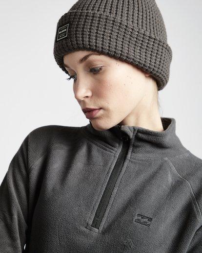 2 Moring Call - Polarfleece-Pullover mit halbem Reißverschluss für Frauen Schwarz Q6SF04BIF9 Billabong