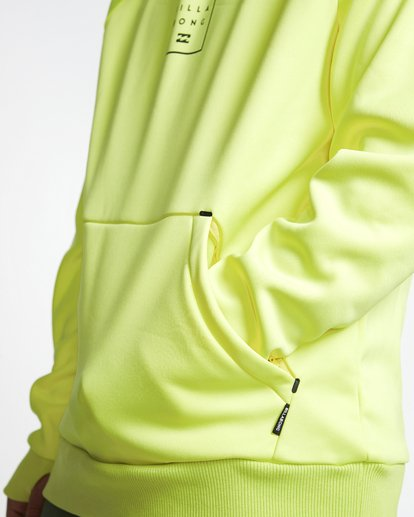 5 Downhill - Hood Funktions-Kapuzenpulli für Männer Gelb Q6SM02BIF9 Billabong