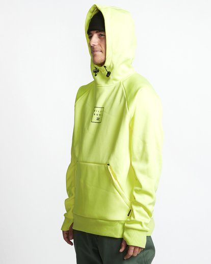 2 Downhill - Hood Funktions-Kapuzenpulli für Männer Gelb Q6SM02BIF9 Billabong
