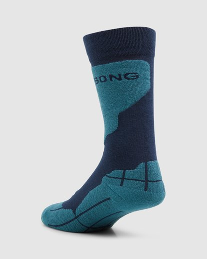 2 Park Coolmax Mens Socks Blue Q6SO02S Billabong