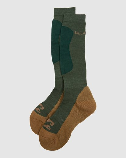 4 Compass Merino Mens Socks Green Q6SO03S Billabong