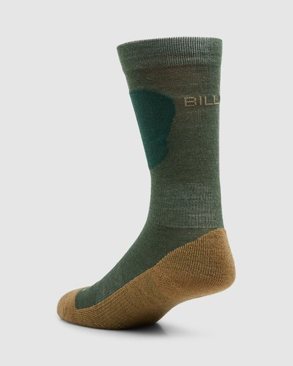 2 Compass Merino Mens Socks Green Q6SO03S Billabong
