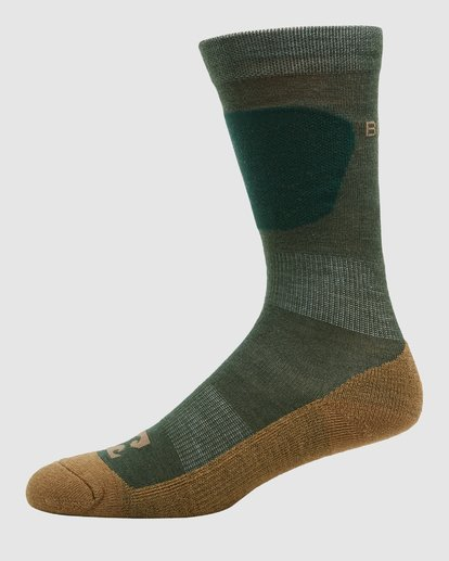1 Compass Merino Mens Socks Green Q6SO03S Billabong