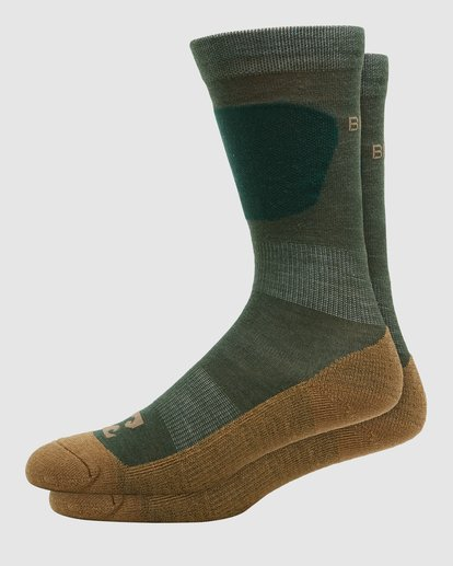 0 Compass Merino Mens Socks Green Q6SO03S Billabong