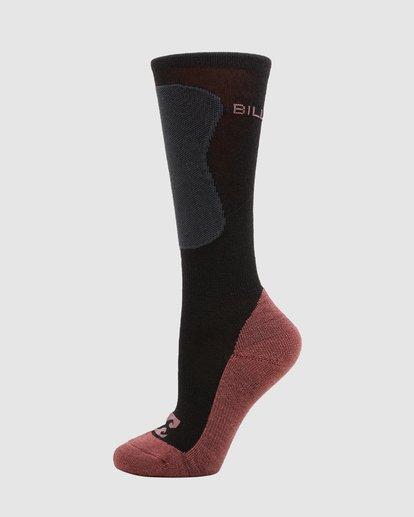 1 Compass Merino Womens Socks Black Q6SO04S Billabong
