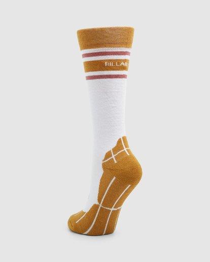 2 Happy Week Womens Socks White Q6SO05S Billabong
