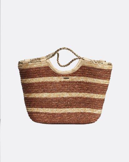 0 Candiceraw Bag - Bolso de Paja para Mujer Rosa Q9BG30BIMU Billabong