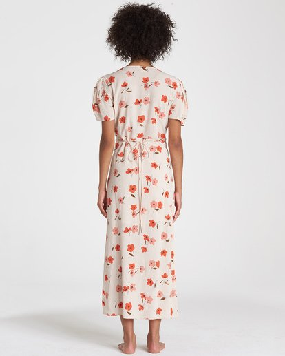 3 Floral Fields - Vestido midi cruzado para Mujer  R3DR10BIMU Billabong