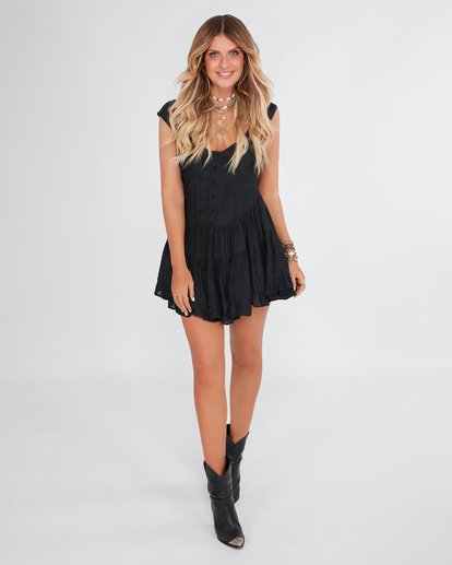 2 Heartstone - Geknöpftes Kleid für Frauen Schwarz R3DR22BIMU Billabong