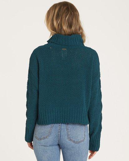 1 Cherry Moon - Pullover mit Wasserfallausschnitt für Frauen Blau R3JP03BIW9 Billabong