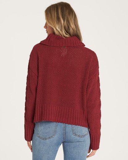1 Cherry Moon - Pullover mit Wasserfallausschnitt für Frauen Rot R3JP03BIW9 Billabong