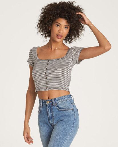 2 Right Now - kurzärmeliges Crop Top für Frauen  R3KT13BIMU Billabong