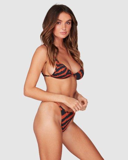 2 Tigress - Braguita de bikini con corte Biarritz para Mujer Negro R3SB34BIMU Billabong
