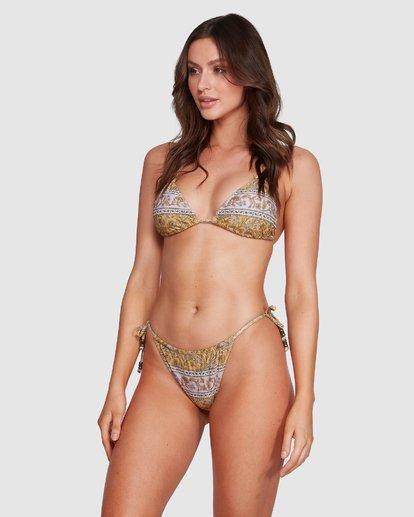 5 Castaway - Top de bikini de triángulo para Mujer Amarillo R3ST20BIMU Billabong