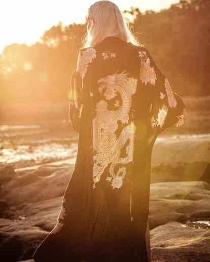 1 Eastern Riser - Kimono corto para Mujer Negro R3TP04BIW9 Billabong