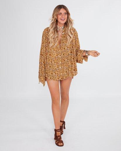 1 Castaway - Blusa para Mujer Amarillo R3TP20BIMU Billabong