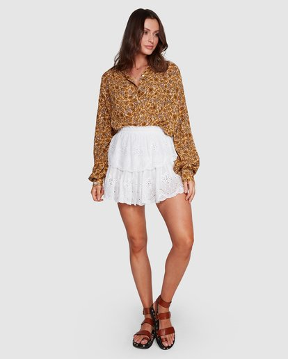 8 Castaway - Blusa para Mujer Amarillo R3TP20BIMU Billabong
