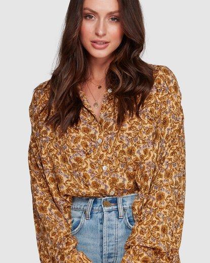 7 Castaway - Blusa para Mujer Amarillo R3TP20BIMU Billabong