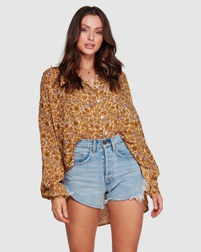 4 Castaway - Blusa para Mujer Amarillo R3TP20BIMU Billabong