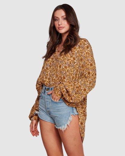 6 Castaway - Blusa para Mujer Amarillo R3TP20BIMU Billabong