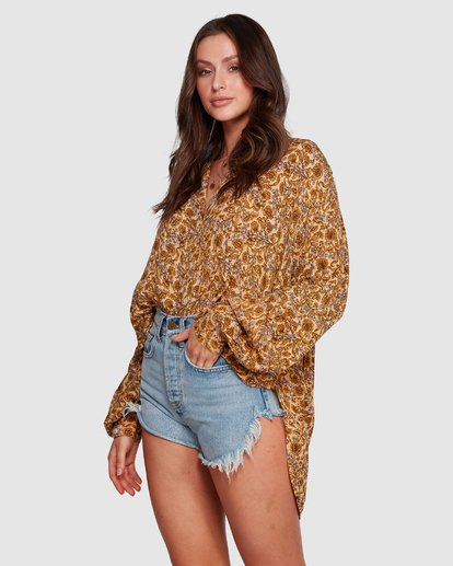 6 Castaway - Bluse für Frauen Gelb R3TP20BIMU Billabong