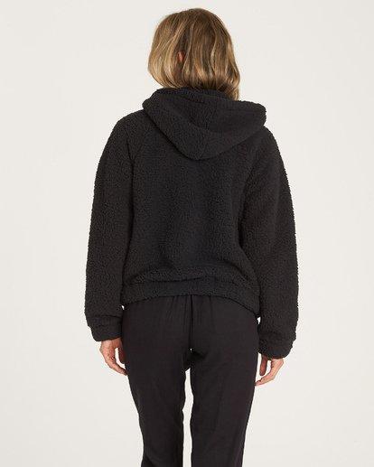1 Reine Down - Polarfleece-Jacke mit Kapuze für Frauen Schwarz R3WA04BIW9 Billabong