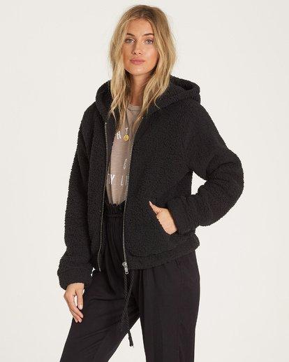 2 Reine Down - Polarfleece-Jacke mit Kapuze für Frauen Schwarz R3WA04BIW9 Billabong