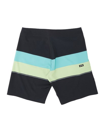 "1 Momentum Airlite 19"" - Performance Striped Board Shorts for Men Black S1BS19BIP0 Billabong"