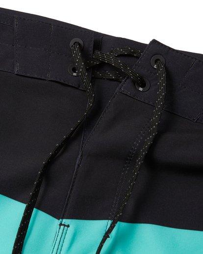 "4 Momentum Airlite 19"" - Performance Striped Board Shorts for Men Black S1BS19BIP0 Billabong"