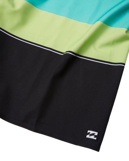 "5 Momentum Airlite 19"" - Performance Striped Board Shorts for Men Black S1BS19BIP0 Billabong"