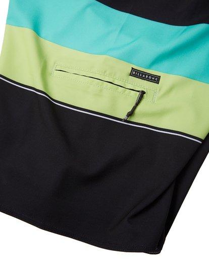 "6 Momentum Airlite 19"" - Performance Striped Board Shorts for Men Black S1BS19BIP0 Billabong"