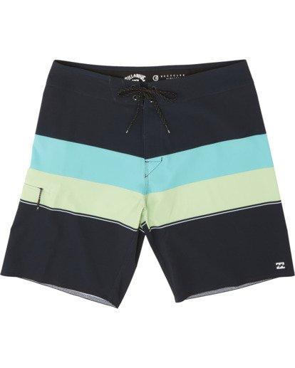 "0 Momentum Airlite 19"" - Performance Striped Board Shorts for Men Black S1BS19BIP0 Billabong"