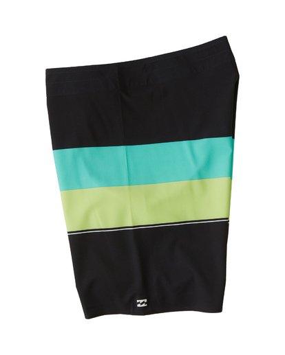 "2 Momentum Airlite 19"" - Performance Striped Board Shorts for Men Black S1BS19BIP0 Billabong"