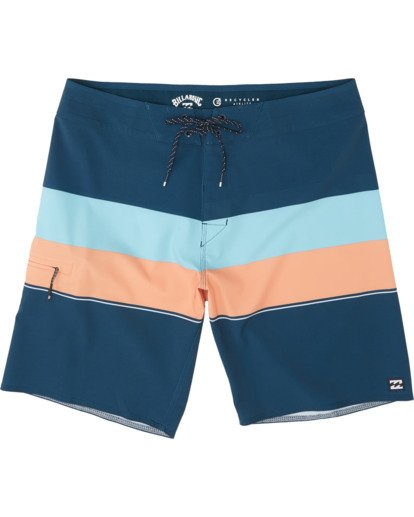 "0 Momentum Airlite 19"" - Performance Striped Board Shorts for Men Blue S1BS19BIP0 Billabong"
