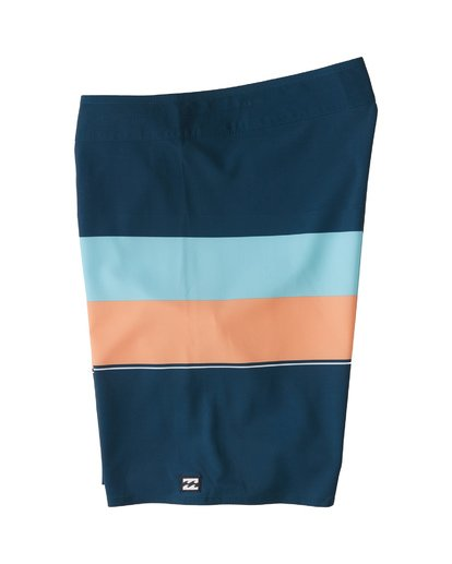 "2 Momentum Airlite 19"" - Performance Striped Board Shorts for Men Blue S1BS19BIP0 Billabong"