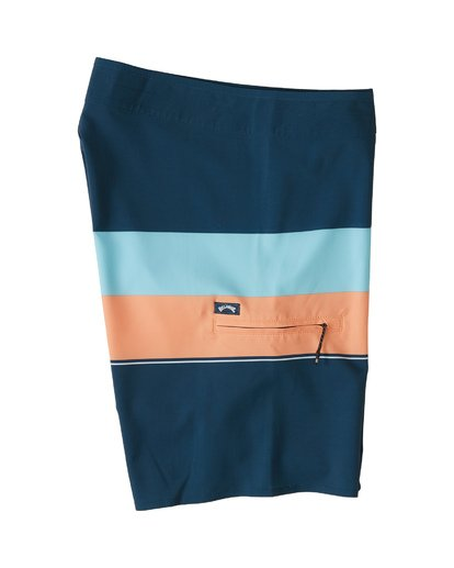 "3 Momentum Airlite 19"" - Performance Striped Board Shorts for Men Blue S1BS19BIP0 Billabong"