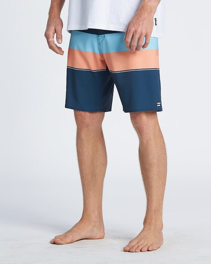 "9 Momentum Airlite 19"" - Performance Striped Board Shorts for Men Blue S1BS19BIP0 Billabong"